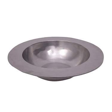 """Round Rimmed Aluminum Bowl 19"""""""