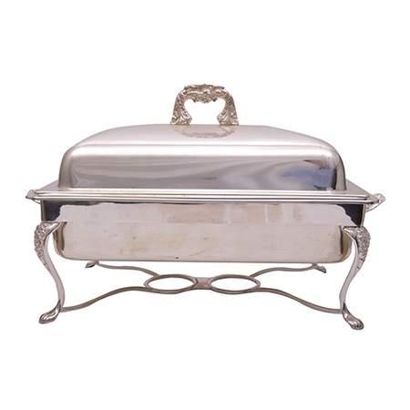 Rectangular Silver 8qt Chafer