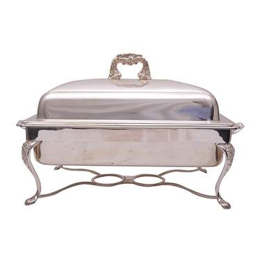 Rectangular Silver 8qt Chafer