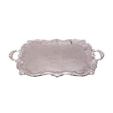 "Silver Tray w/ Handles 30"""