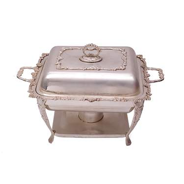Silver Square Chafer 4qt