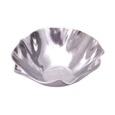 """Round Fluted Aluminum Bowl 10"""""""