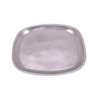 Oval Pewter Tray 18""