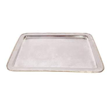 Hammered Silver Tray 13""