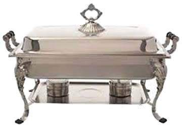 Silver Rectangular Chafer 8qt