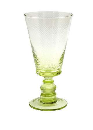 Roma Green Water Goblet