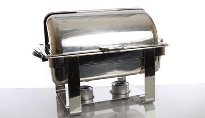 Stainless Steel Rolltop 8qt Chafer