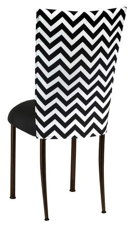 Prime Chevron Chair Cover With Black Stretch Knit Cushion On Brown Gmtry Best Dining Table And Chair Ideas Images Gmtryco