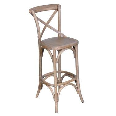 Wood Vineyard Barstool