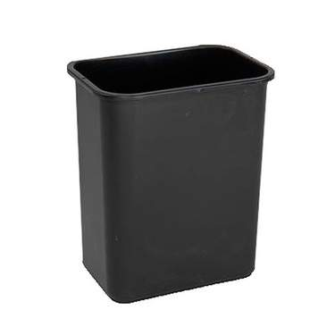Black Office Trash Can