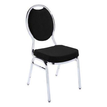 Black Banquet Stacking Chair (Teardrop)