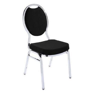 Black Banquet Stacking Chair (Teardrop)