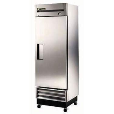 Single Door Stainless Steel Refrigerator w/Pans