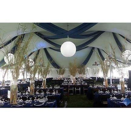 Pole Tent With Interior Swagging