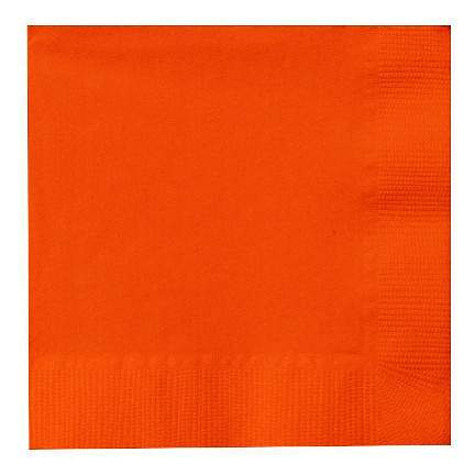 Orange Peel 2-Ply Cocktail Paper Napkin (125 Pack)