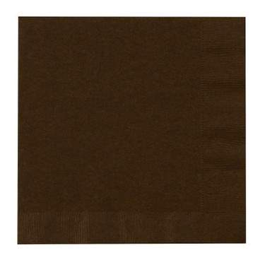 Chocolate Brown 2-Ply Dinner Paper Napkin (20 Pack)