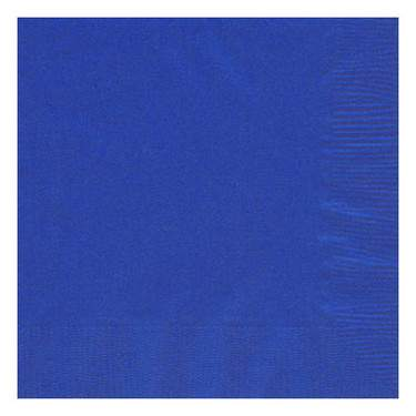 Bright Blue 2-Ply Paper Cocktail Napkin (125 Pack)