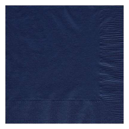 Navy Flag Blue 2-Ply Cocktail Paper Napkin (125 Pack)