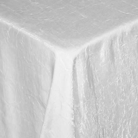 """Iridescent Lamour White 90"""" Square"""