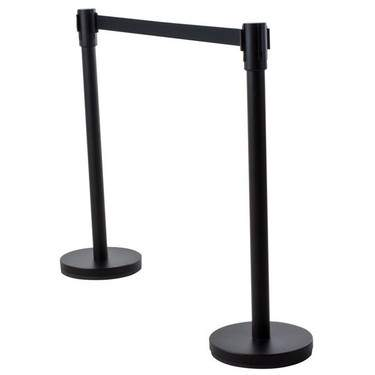 "Retractable Black Stanchion 7'L x 40""H (Beltrac)"