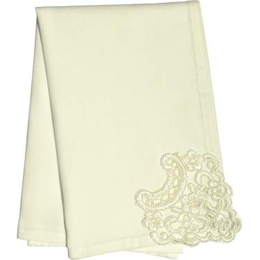 "Linen Lace French Ivory 20""X20"" Napkin"