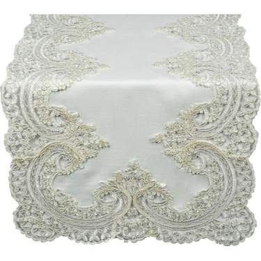 Lace French Ivory Runner