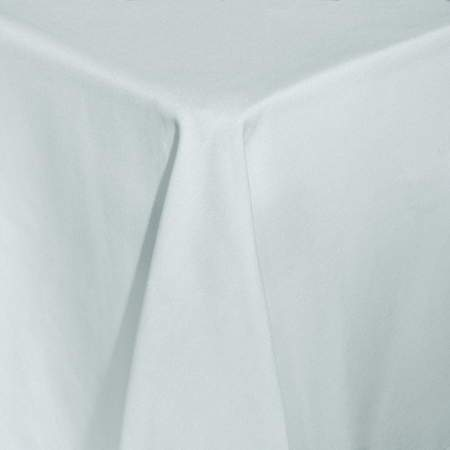 Cotton Blend White Round Umbrella Table Linen 90""