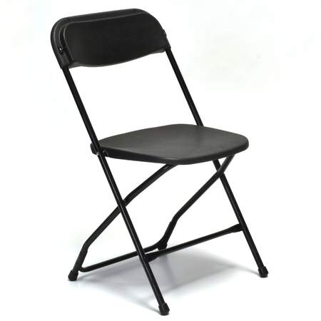 Samsonite Folding Chair Black Folding Chair Black w/ Black Frame