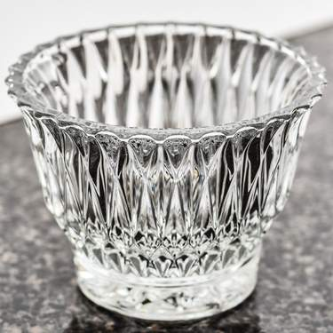 Crystal Cut 6oz Sugar Bowl