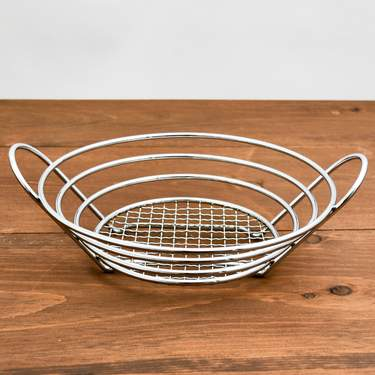 Round Chrome Bread Basket