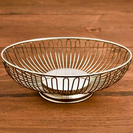 Oval Silver Bread Basket 8.5""