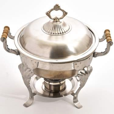 Stainless Steel 5 Qt Round Ornate Chafer