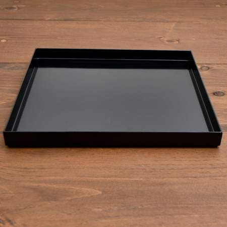Square Lacquer Black Tray 14""