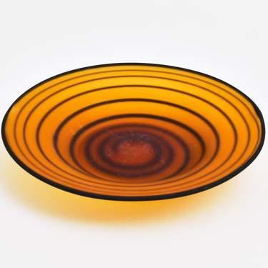 "Amber Swirl Glass Plate 8"""