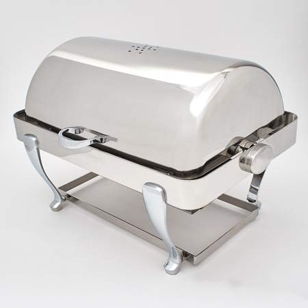 S/S 8qt Rectangle Freedom Rolltop Chafer