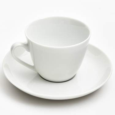 White Coupe Porcelain Coffee Cup 8oz