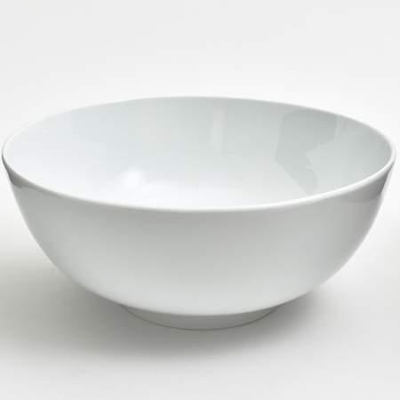 """White Round Porcelain Bowl 14"""""""