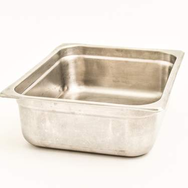 "Chafer Food Pan, Stainless Steel 4qt Half (4"" Deep)"