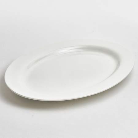 """Oval White Porcelain Platter 14"""""""
