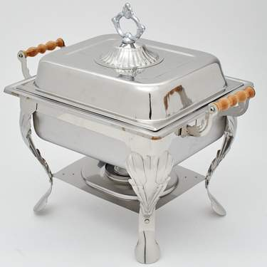 Stainless Steel 4 Qt Rectangle Ornate Chafer