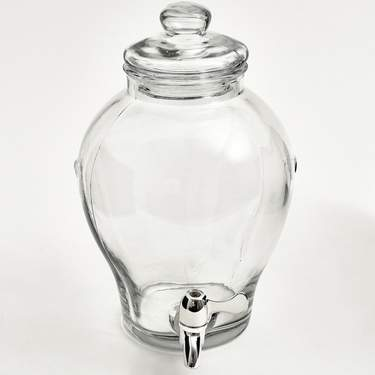 Dispenser 2.5 gal Glass  Beverage Ginger Jar