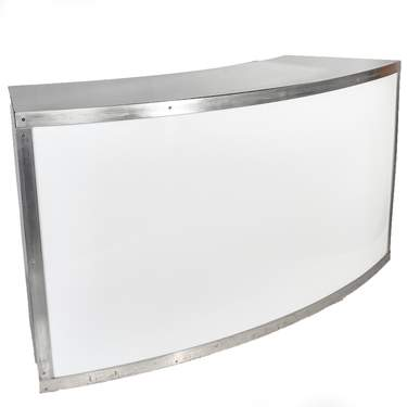 Lighted Acrylic Curved Bar 6'
