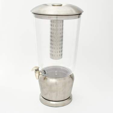 Beverage Dispenser, S/S 5 Gal w/ Ice Dispenser & Diffuser