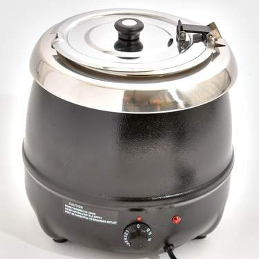Chafer, Soup Kettle Black 11qt Electric