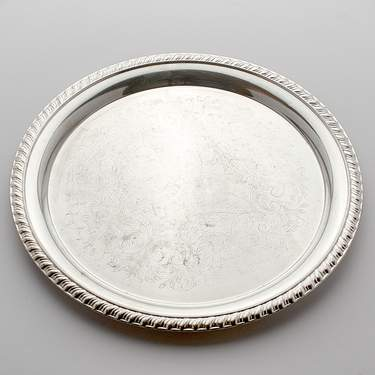 "Tray, Silver 12"" Round"