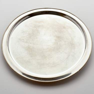"Tray, Silver 15"" Round"