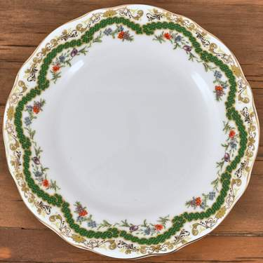 China, Antoinette Verte B&B Plate 6.25""