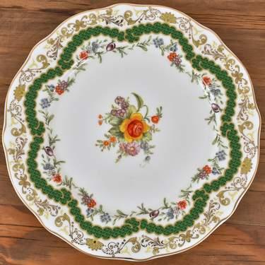 """China, Antoinette Verte Dinner Plate 10.75"""""""