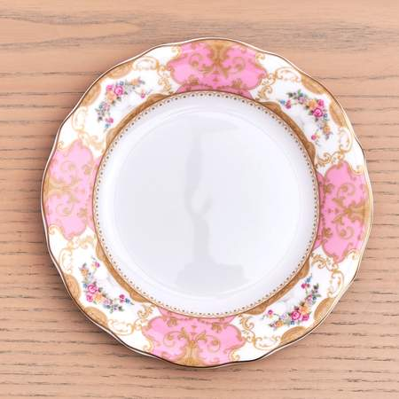 """China, Antoinette Rose B&B Plate 6.25"""""""