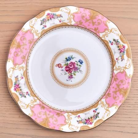 """China, Antoinette Rose Dinner Plate 10.75"""""""